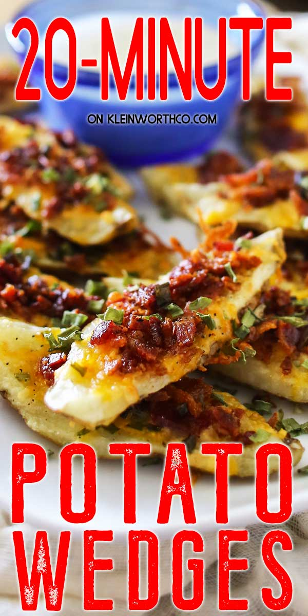 20 Minute Potato Skins - Wedges