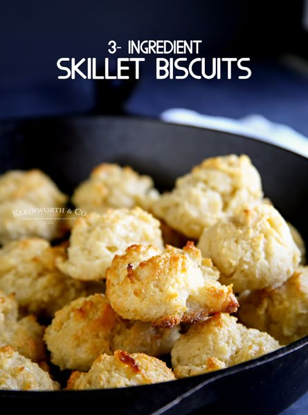 3-Ingredient Skillet Biscuits