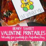 Beary Sweet Printable Valentines