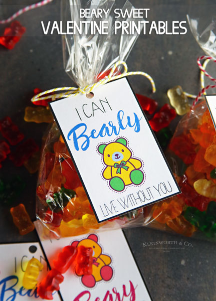 Beary Sweet Printable Valentines