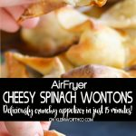 Cheesy Spinach Wontons - In Just 15 Minutes