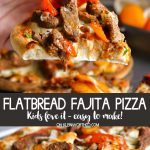 Easy Mini Pepper Flatbread Fajita Pizza