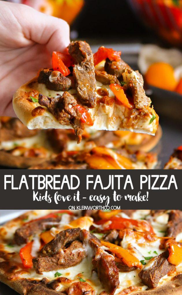 Easy Mini Pepper Flatbread Fajita Pizza