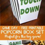 Game Day Popcorn Box Set