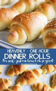 REcipe for Heavenly One Hour Dinner Rolls