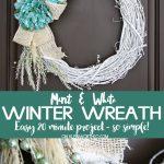 Mint & White Winter Wreath