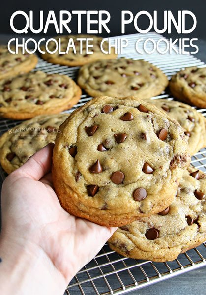 Quarter Pound Chocolate Chip Cookies