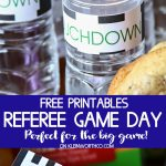 Referee Game Day Party Printables