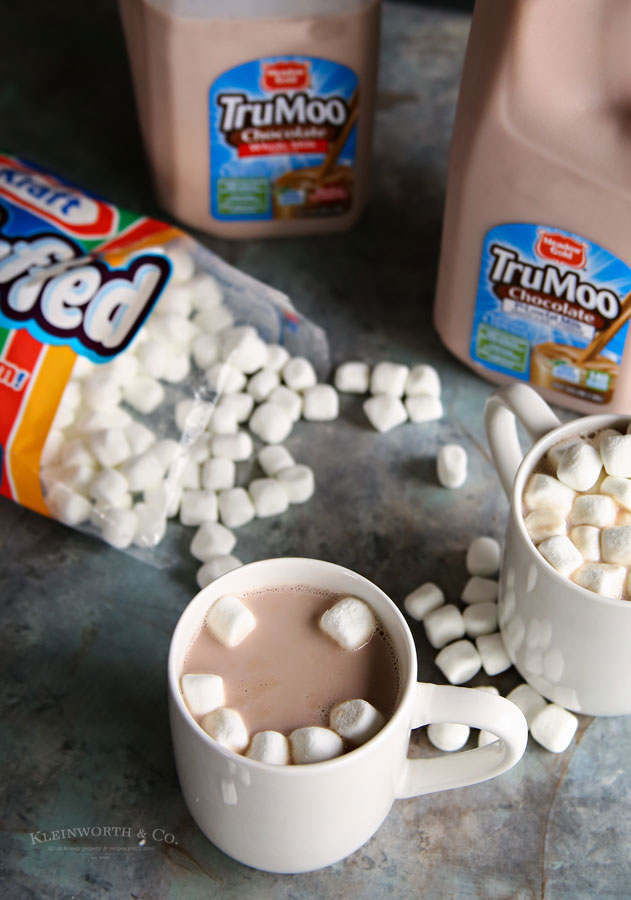 TruMoo hot chocolate with Jet Puffed Marshmallows