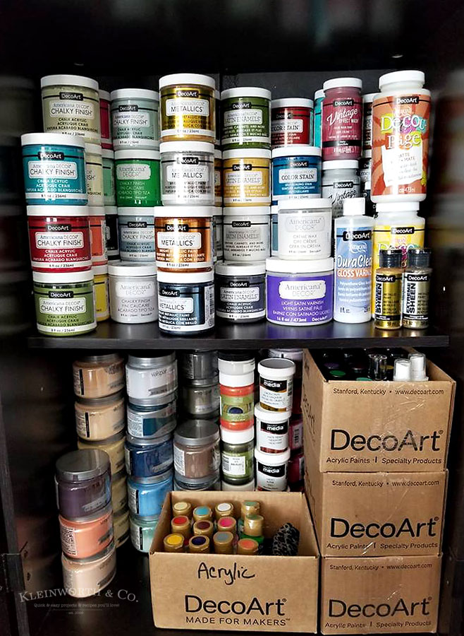 Craft Room & Office Tour 2018 paint storage