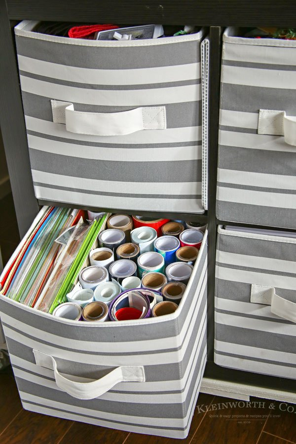 Craft Room & Office Ideas- vinyl storage