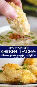 Crispy Chicken Tenders & Potato Soup