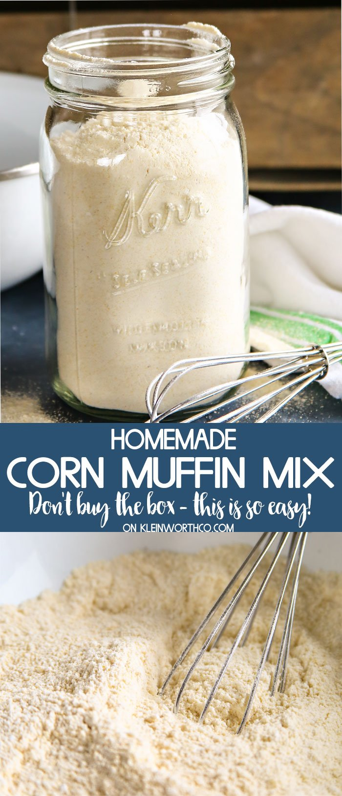 Homemade Corn Muffin Mix