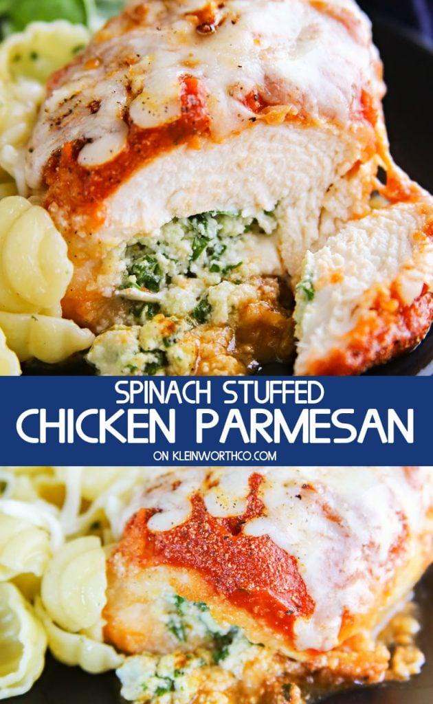 Spinach Stuffed Chicken Parmesan