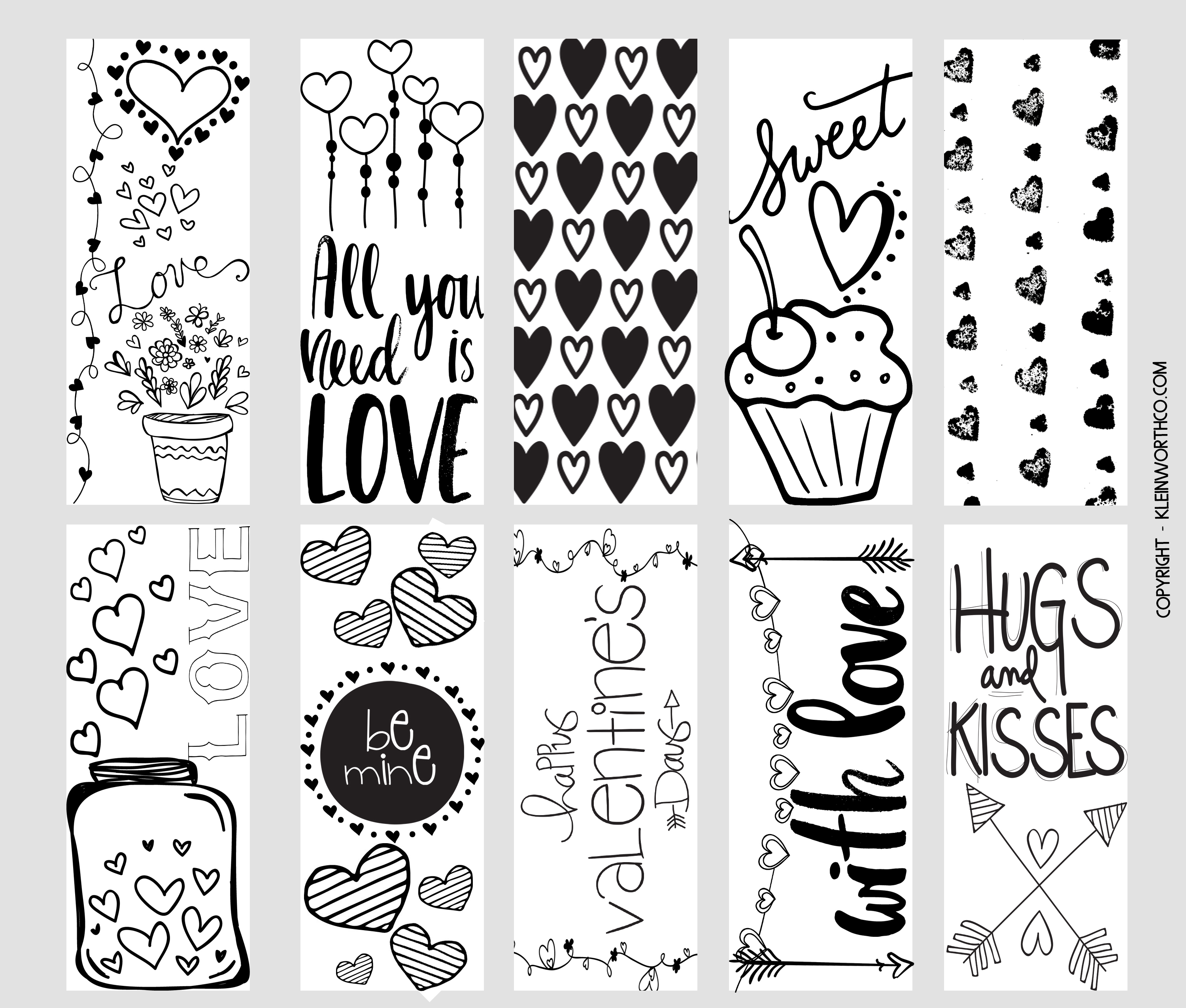 It's just a picture of Sweet Free Printable Bookmarks to Color Pdf