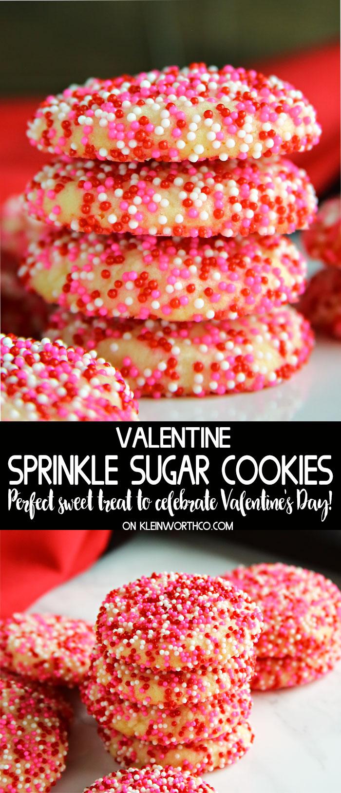 Valentine Sprinkle Sugar Cookies