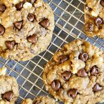 Molasses Chocolate Chip Oatmeal Cookies