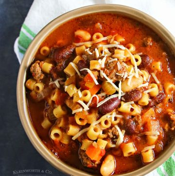 recipe for Slow Cooker Pasta e Fagioli Soup