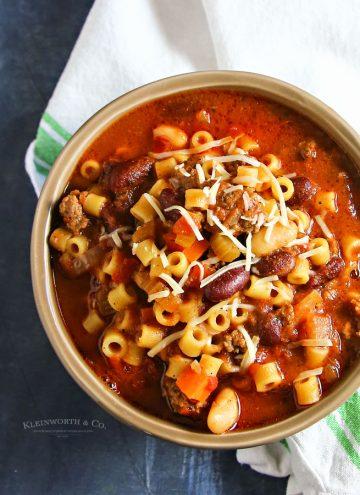 recipe for Slow Cooker Pasta e Fagioli Soup