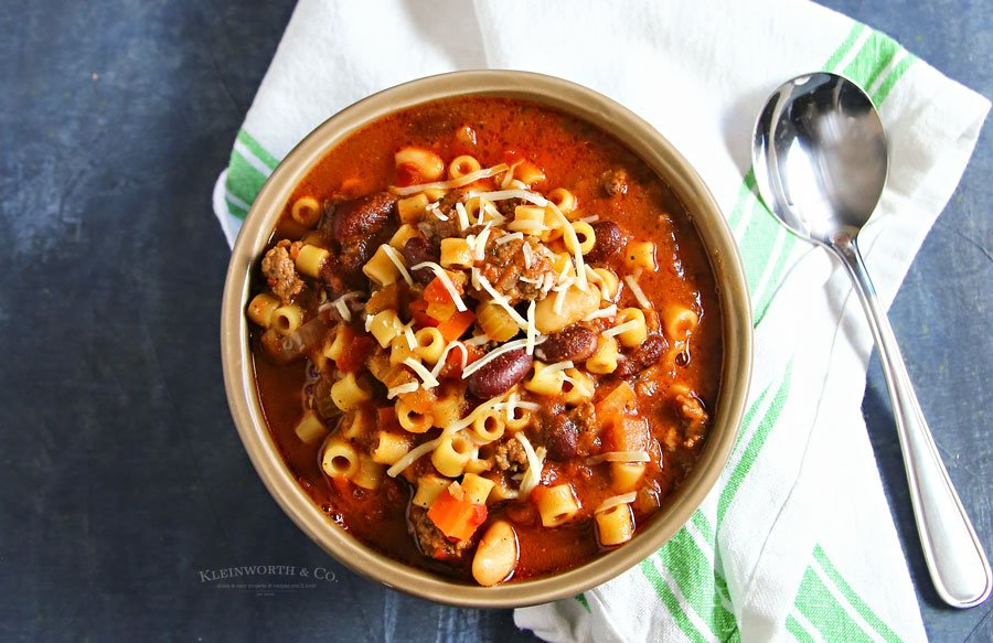 how to make Slow Cooker Pasta e Fagioli Soup