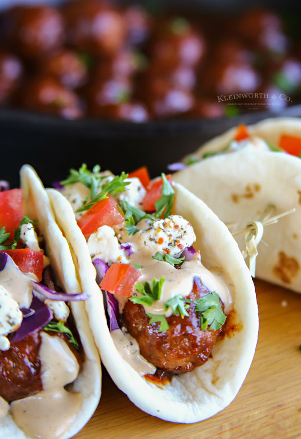 BBQ Meatball Street Tacos recipe