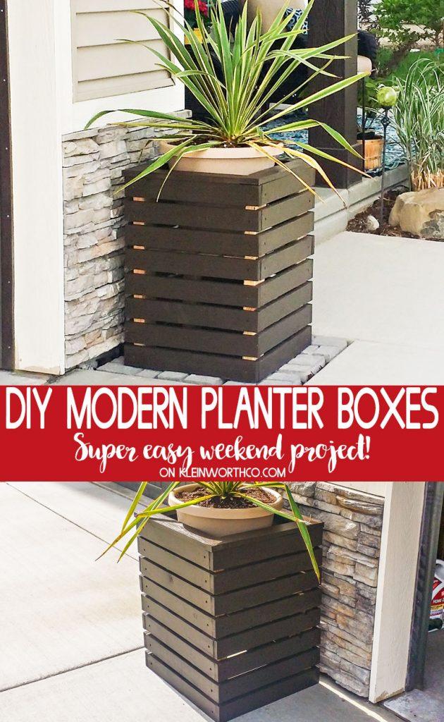 DIY Modern Planter Boxes