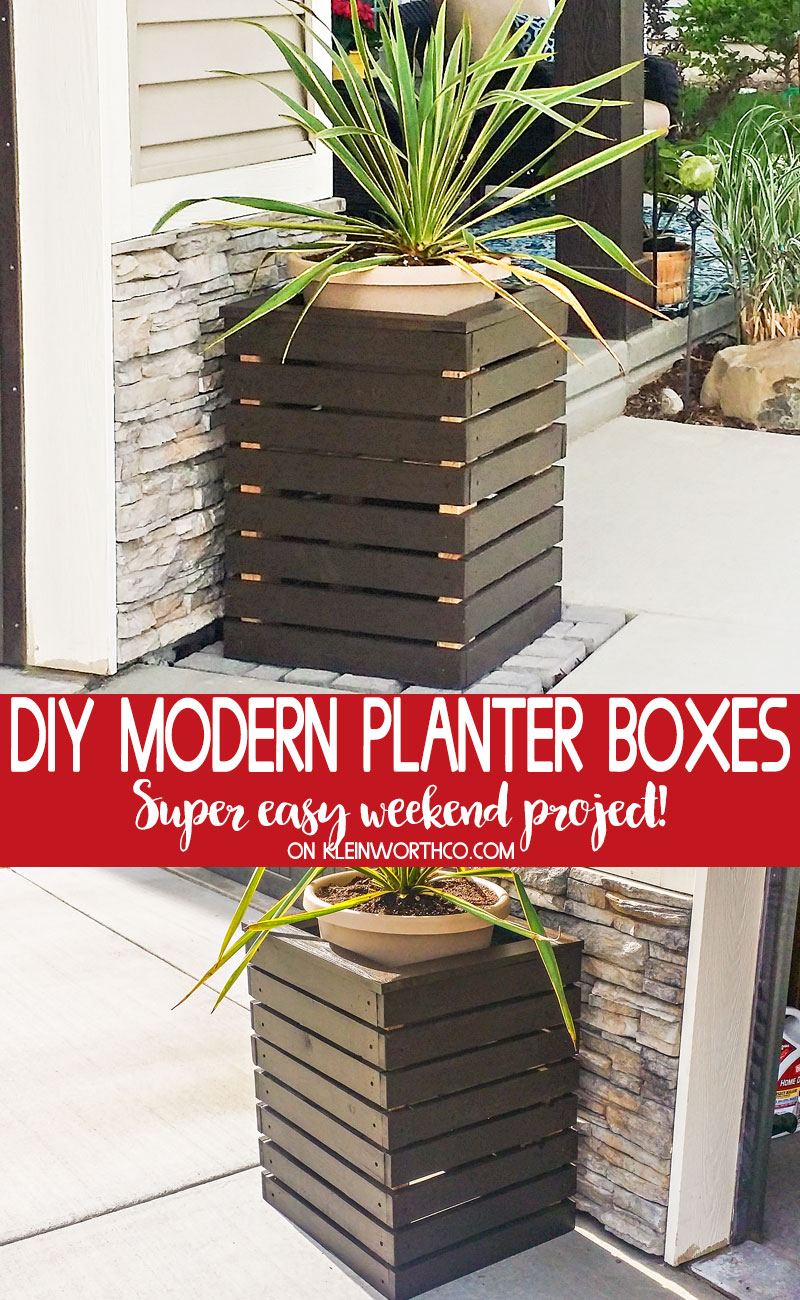 DIY Modern Planter Boxes DIY Modern Planter
