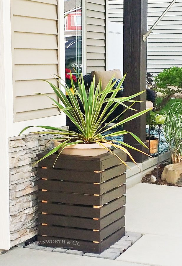 DIY Modern Planter Boxes