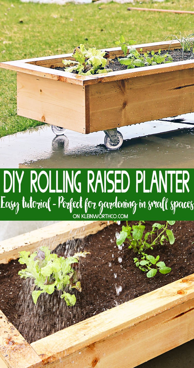 Diy Rolling Planter Box Kleinworth Co
