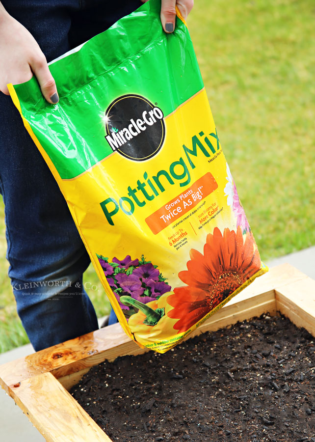 DIY Rolling Planter Box for Miracle Gro