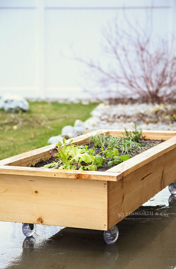 DIY Rolling Planter Box - how to make
