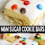 M&M Sugar Cookie Bars