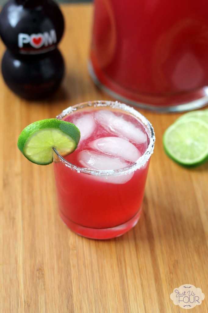Three Ingredient Pomegranate Margarita