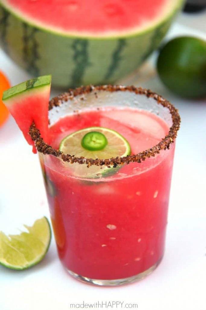 Spicy Watermelon Margaritas