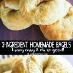 3-Ingredient Homemade Bagels