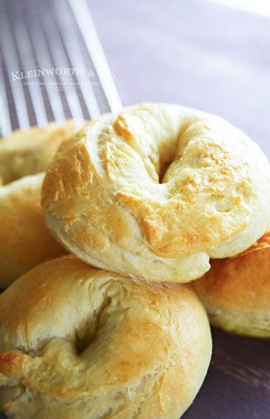 homemade bagels with greek yogurt