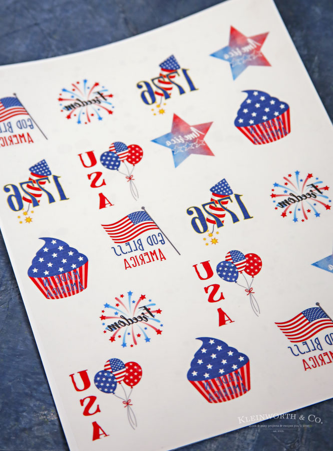 4th of July temporary tattoos