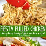 Beer Braised Fiesta Pulled Chicken