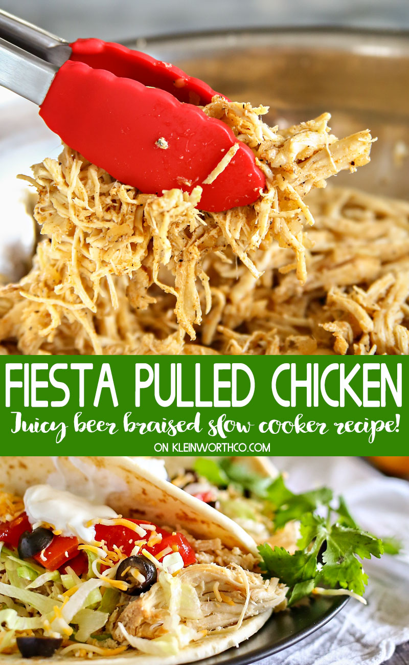Beer Braised Fiesta Pulled Chicken
