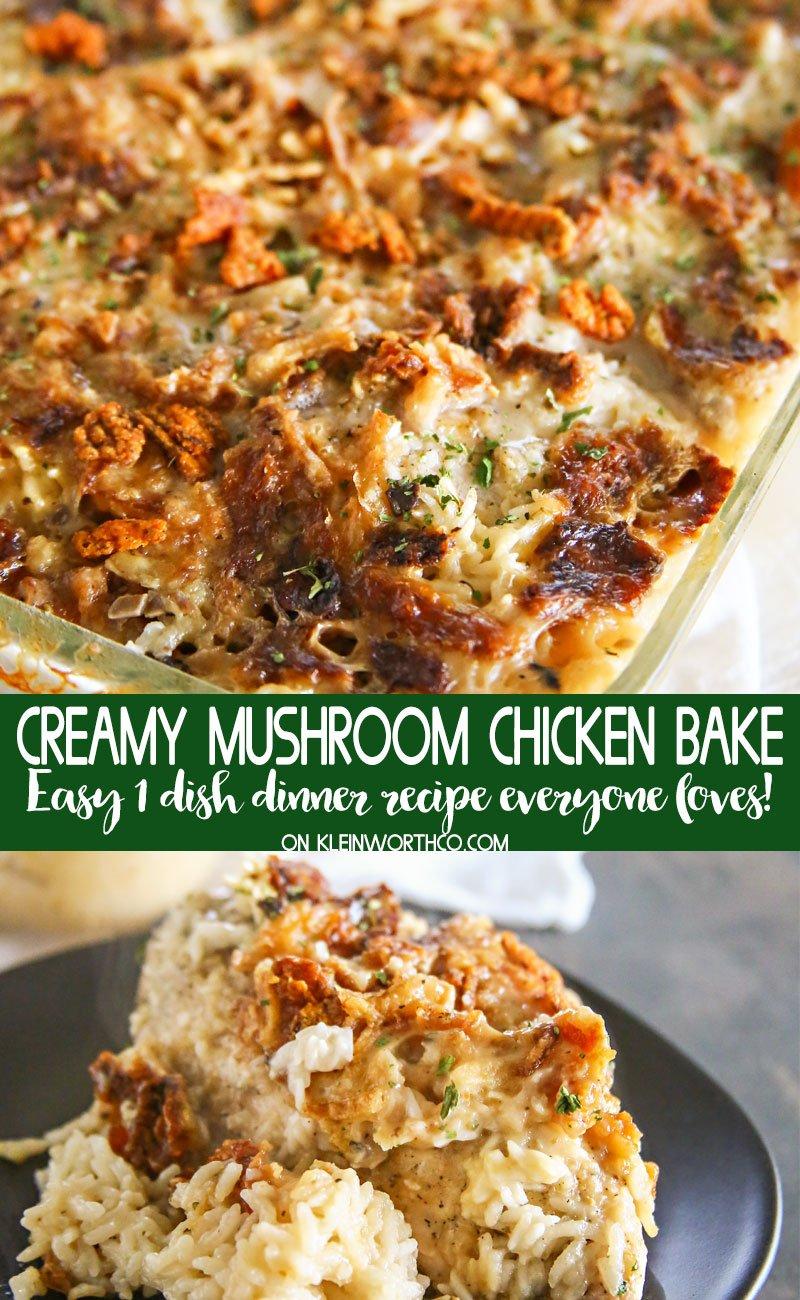 Creamy Mushroom Chicken Bake