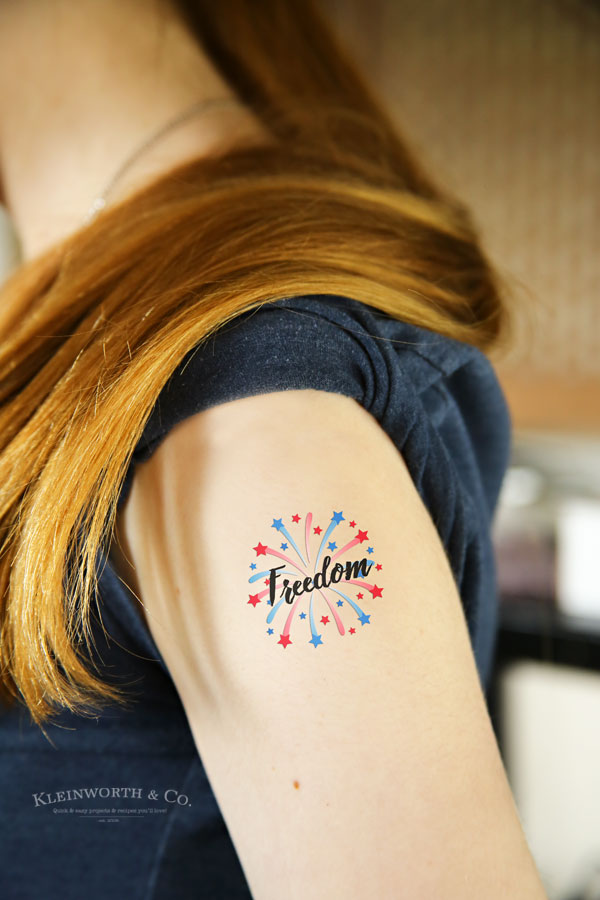 photograph regarding Printable Temporary Tattoos identify Totally free Printable Patriotic Short term Tattoos - Kleinworth Co