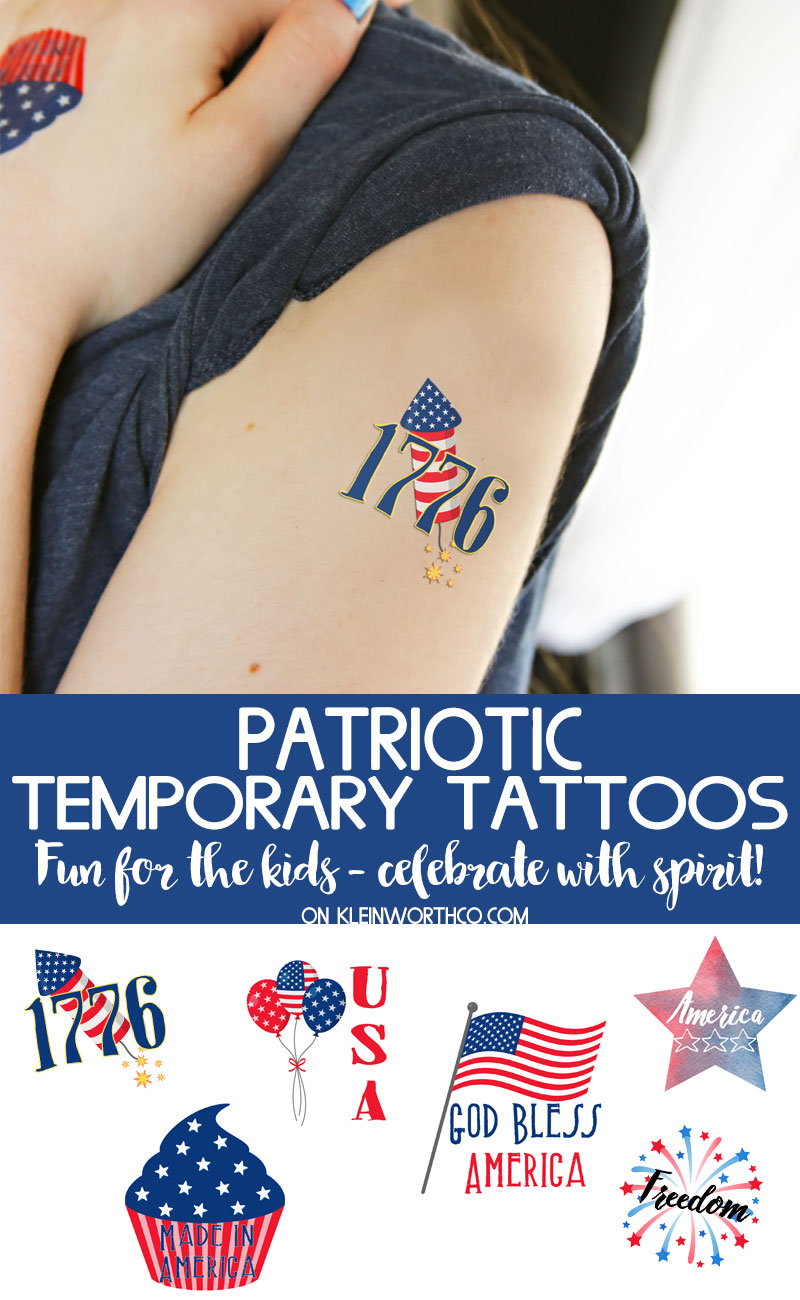 picture relating to Printable Temporary Tattoos known as No cost Printable Patriotic Short-term Tattoos - Kleinworth Co