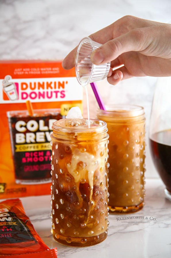Salted Caramel Cold Brew Coffee - add cream