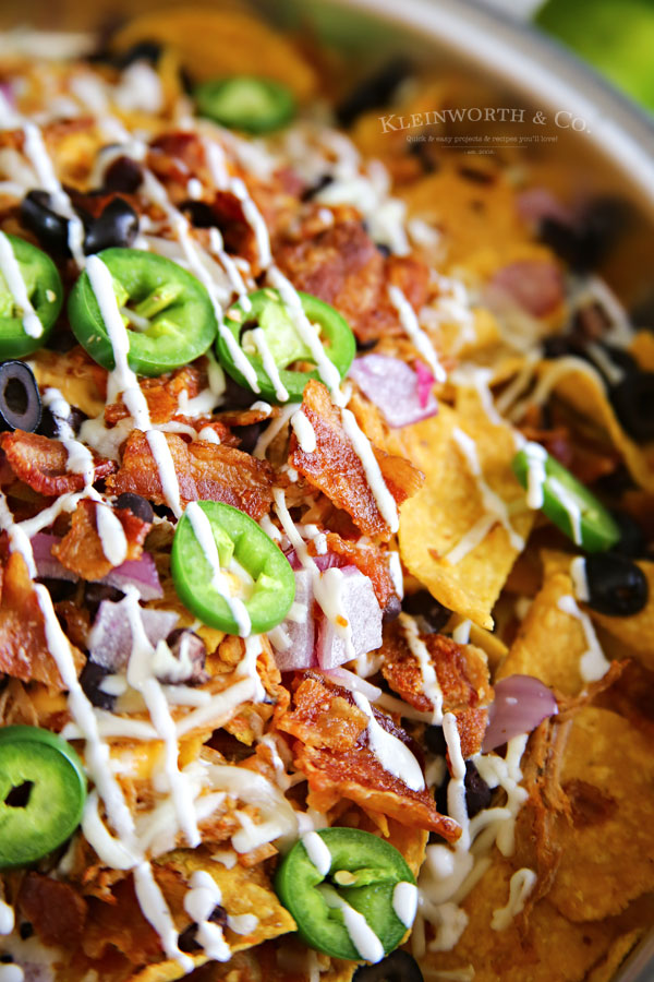 sheet pan - Smoked BBQ Bacon Nachos
