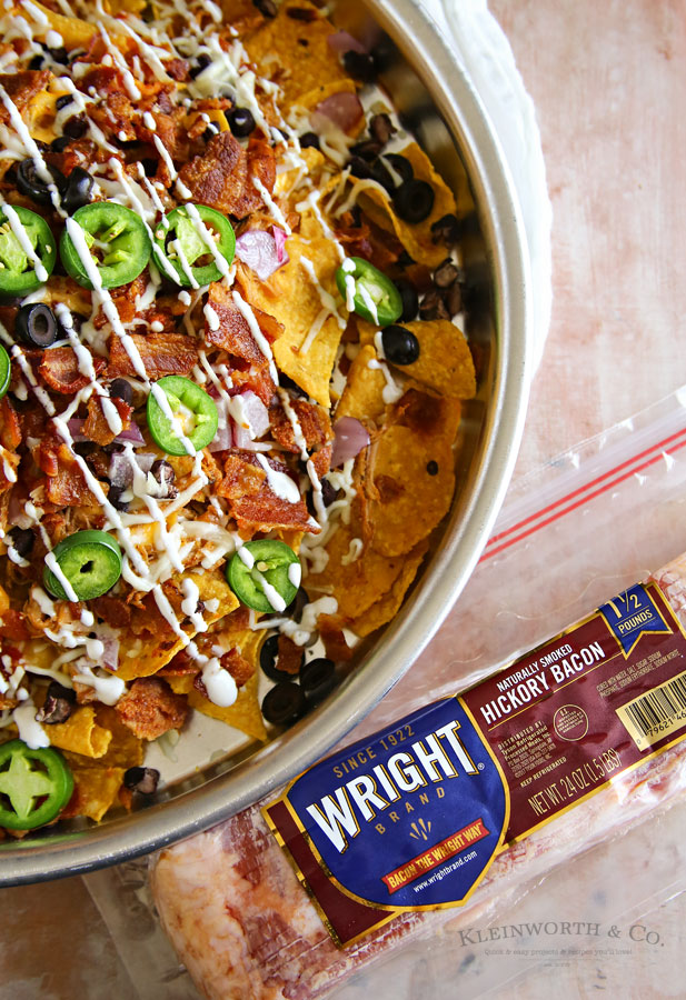 wright bacon - Smoked BBQ Bacon Nachos