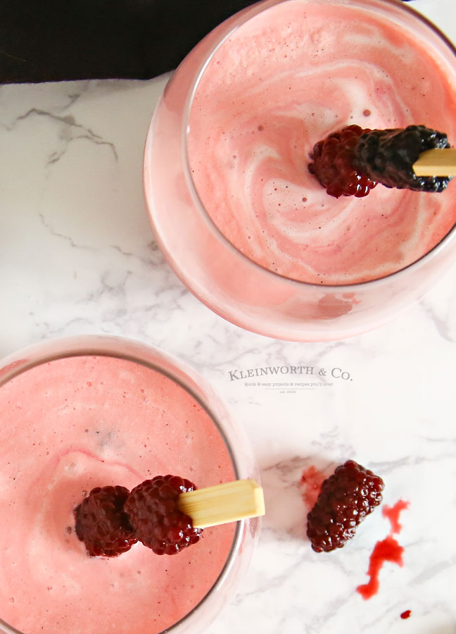 Drink Recipe - Blackberry Cream Mimosa