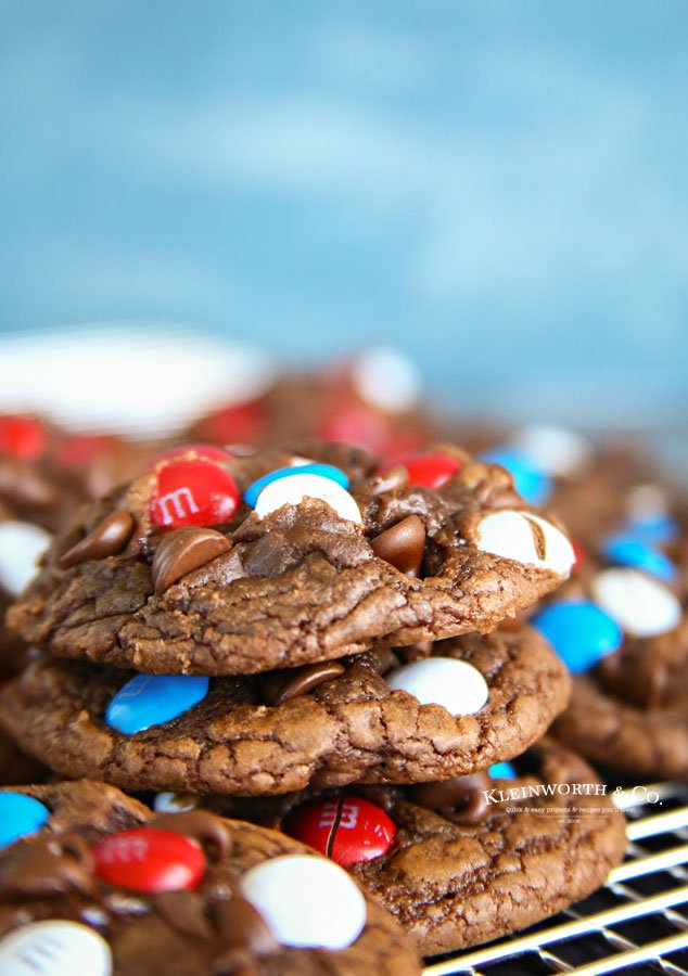 Chewy Patriotic Brownie Cookies Kleinworth Amp Co