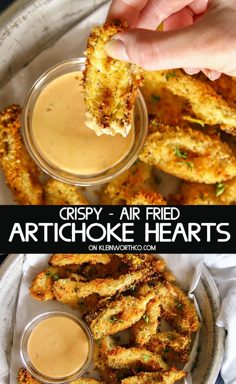 Crispy Air Fried Artichoke Hearts
