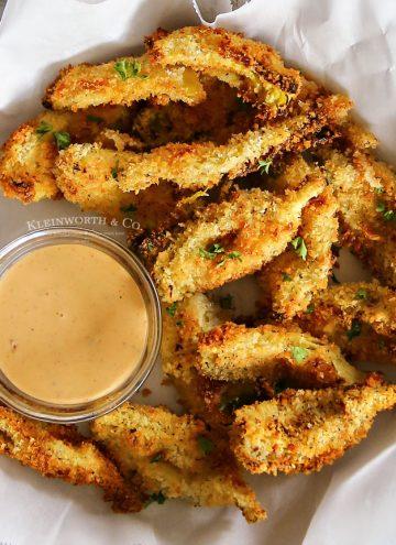 Crispy Air Fried Artichoke Hearts appetizer