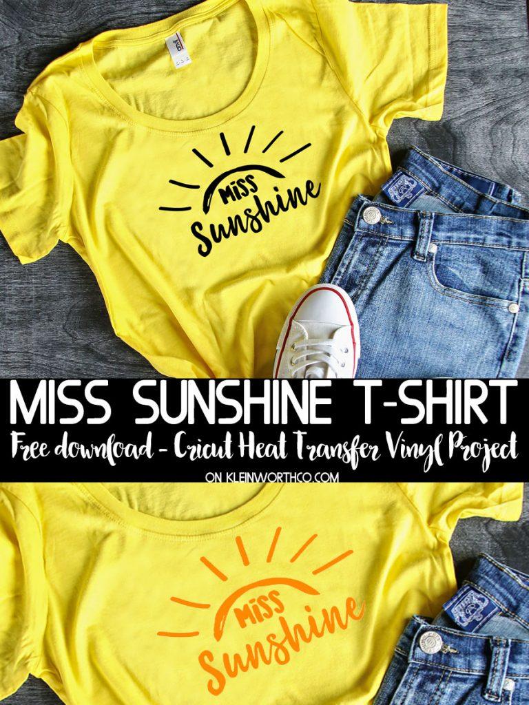 Miss Sunshine T-Shirt Iron-On
